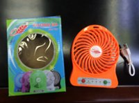 Wholesale F95B Portable Mini USB Fan Rechargeable Battery Operated LED Lamp for Indoor Outdoor Kids Table Battery Strong Wind For Students Gift