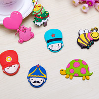 Wholesale 3D Cartoon Stickers for Fridge Magnet Magnets colorful Animal sticker furniture decoration Home Decor hot sale