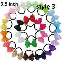 Boy baby bow holders - 15 off Boutique Lovely Pinwheel Hair bows hair bands Baby girl Ponytail Holder headband Infant Bow Elastic Band kid Hair Accessories