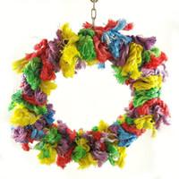 Wholesale Purple Star Large Cotton Snuggle Ring Bird Toy