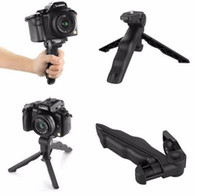 Wholesale New Arrive Universal Mini Tripod quot Rotation Desktop Handle Stabilizer For Mobile Phone Camera With Cell Phone Holder and Tripod Adapter