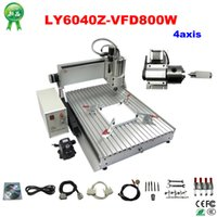 Wholesale 4 axis W LY CNC Router Z VFD china cnc milling machine for for aluminum metal wood with assembled tested well