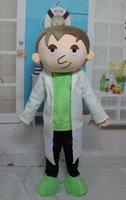 conception mascotte professionnelle conception robe blanche costume de mascotte de médecin à vendre, bienvenue à l'ordre!