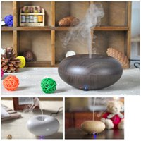 Wholesale 2016 HOT Wood Grain Aromatherapy Diffuser Air Humidifier LED Night Light Ultrasonic Humidifier Air Aroma Diffuser Mist Maker GX K