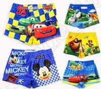 Cheap 15 design KKA89 Boys Swimsuit Spiderman Trunks Shorts Swimming Mickey Cars Pattern Swimming pants Kids Surfing Bather 30pcs
