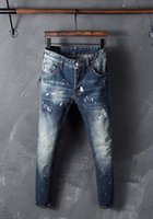 american metal coatings - 2016 Slim Low Rushed Stitching New Ds Q Heavy Water Fluorescent Metal Logo Paste Coating Pocket Zipper Decoration Jeans Hommes