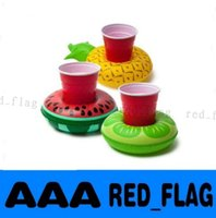 Wholesale NEW pool party Inflatable FRUITS BEVERAGE BOAT Flamingo DONUTS Drink Storage Holder Floating Swimming Pool Bath Beach Toy LLY626