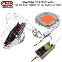 Wholesale 50w w w w w w Grow Led lens heat Sink aluminum Cooling Fan constant Current Driver Full Spectrum Diy Led Light Kits