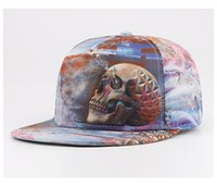 baseball cap images - Fashion Cool Spring Summer Baseball Cap Hiphop Plain Edge Hat with D Skull Image For Teenages