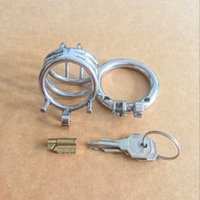 Cheap 2016 Latest Design Male Stainless Steel Cock Penis Cage Chastity Belt Device Cock ring BDSM Sex toys