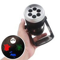 Wholesale NEW AC90 V W Rotating LED Laser Stage Projector LED Spotlight Sound Activated Halloween Pattern for Party KTV Pub Bar Halloween