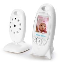 Wholesale 2016 Hot Infant GHz Wireless Baby monitor Digital Video Baby Monitor Audio Night Vision Music Temperature Display Radio channel m