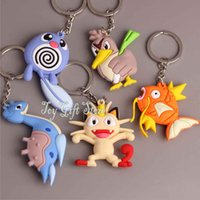Wholesale New Style Farfetch d Lapras Magikarp Meowth Poliwag CM Poke Doll Toy Keychain