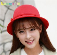 Wholesale 10pcs Korean fashion new winter bow basin Hat Lady little wool hat warm basin hat