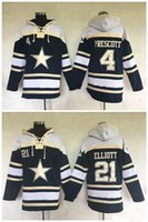 baseball jackets for sale - 2016 New Football Hoodies Dak Prescott Ezekiel Elliott Blue Sports Sweatshirts Winter Jacket for sale mix order accept