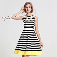 beautifull dress - 2016 New Hot stripe Dress Crew Neck Casual Elegant Dresses For Women Beautifull Fashion Mini Women Dress