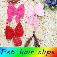 Wholesale Dog headdress Korean wool bow Pet Products Pet Accessories Christmas gift