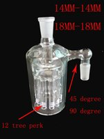 Wholesale 2016 mm thick glass ash catcher mm mm glass bong with tree perk well filter Smoking tobacco oil rigs