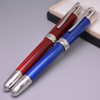 art serial - Classical Writer Bernard Shaw Emerald Blue Red Metal Fountain Pen Silver Clip MB Office Pens With Serial Number
