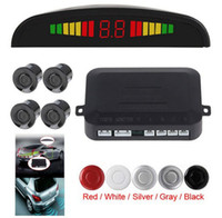 backup sensors silver - Digital LED Display Car Parking Sensor System Distance Detector Reverse Radar with sensors For Vehicle Backup Reversing