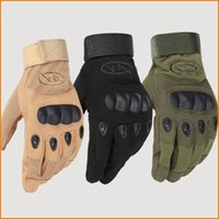 Wholesale Outdoor Riding hiking climbing training tactical gloves men s gloves armor protection shell full finger gloves Size Color