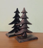 antique book ends - 2 Pieces Antique Cast Iron Christmas Tress Shape Bookend Book End CD s DVDs Metal Home Office Desk Table Decor Study Free Ship