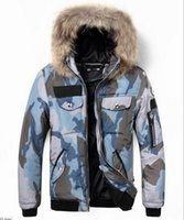 Wholesale 2016 Fashion trend camouflage cotton hooded fur collar men s leisure high end down jacket foreign trade