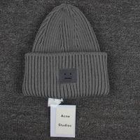 Prezzi Wool hat-inverno caldo donne cappelli lavorati a maglia di lana caldo sorriso Viso Beanie Knit cranio Sport Caps Cappelli Caps Pallacanestro cappello scheletro