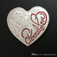 australian gifts souvenirs - 10pcs Non magnetic The Australian Eternal love heart shaped Elizabeth silver plated souvenir coin valentine s gift