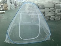 Wholesale New Hot Style Two Doors white or Blue Pop Up Mosquito Nets CM or CM the first available delivery immediate shipment