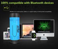 bank handsfree - Zealot S1 Outdoor Speakers LED Flashlight Handsfree Mini Wireless Bluetooth Speaker With Power bank Subwoofer Outdoor Speakers