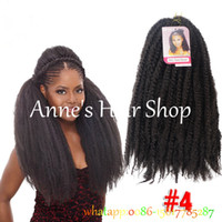 Wholesale Crochet Marley Braids Hair Extensions Afro Kinky Ombre Jumbo Braiding Hair colors Senegalese Curly Marley Twist Bulk
