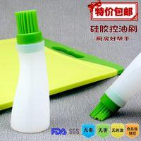 Wholesale Silica gel brush oil brush oil brush high temperature resistant kitchen tools oiler oil bottle brush