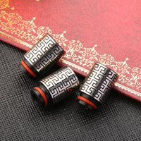 Wholesale Maze like drip tips stainless steel drip tip Chinese classical pattern wide bore drip tip for e cigs tanks