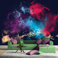 abstract illustrations - Gewu Art Modern abstract illustration color TV background background sofa the bedroom background The large mural wallpaper