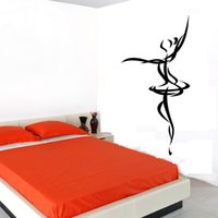 Cheap Cheapest Ballet Dancer Outline Wall Sticker Simple Design Vinyl Removable Home Decor Decals