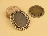 Wholesale A1050 MM Fit MM Retro bottom support gem bottom bracket parts metal stamping blank cameo setting cabochon base tray bezel