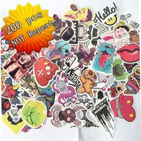 Wholesale 200 Mixed funny hit stickers for kids Home decor jdm on laptop sticker decal fridge skateboard doodle stickers toy stickers Size cm