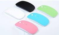 Wholesale 2 G Wireless Optical Mouse Mice Colors Ultra thin Mouse USB Receiver for Laptop Notebook PC Desktop Computer