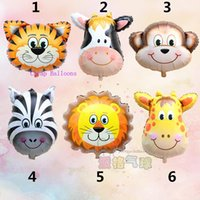 animal birthday party themes - New mini Lion amp monkey amp zebra amp deer amp cow amp tiger Head Helium Foil Balloons Birthday Party Animal Balloons theme part