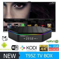 Wholesale T95Z PLUS Android TV BOX S912 Octa Core G G G G WiFi Bluetooth Custom KODI Media Player