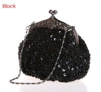 antique beaded purses - Chicastic Fully Sequined Mesh Beaded Antique Style Wedding Evening Formal Cocktail Clutch Purse
