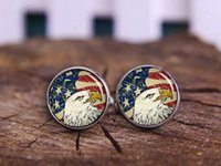 american bald eagles - Bald Eagle Cufflinks Tie Clips American Flag Cufflinks USA Flag Cuff Links Patriot Cuff Links Antique Flag Vintage National Symbolic