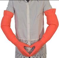 Wholesale fresshipping Lengthen ultra long cm waterproof rubber gloves bowl dish latex gloves Rubber gloves