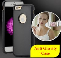 Wholesale Anti Gravity Case Selfie Hybrid TPU PC Plastic Magical Nano Sticky Antigravity Wall Back Cover For iPhone S Plus S7 iphone plus