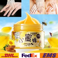 Wholesale New Hand Film Girls Women Lady Whitening Healthy Hands Cream Lift firming Skin Hand Creams Honey Paraffin Wax Exfoliating Hand Care WX B72