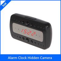 Wholesale Spy Camera Clock in Digital Video Recorders and Cards P Night vision Hidden Camera Alarm clock motion detection Camcorder