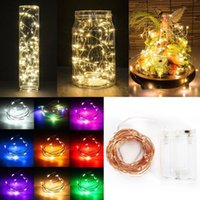 Wholesale 40LEDS String Art Light Battery LED String Light Party Lighting Christmas Wedding Party Garden Decor Outdoor Silver Fairy Light M M M