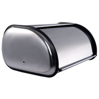 Wholesale Stainless Steel Bread Box Storage Bin Keeper Food Container Kitchen New