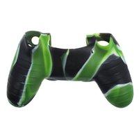 Camouflage en caoutchouc de silicone caoutchouc coiffe Housse pour PlayStation 4 PS4 Controller Livraison gratuite
